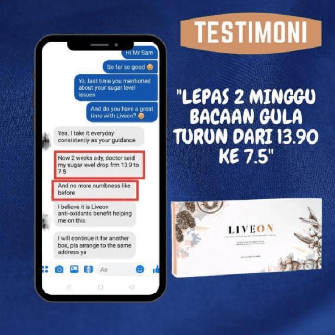 LIVEON Wellous Malaysia testimonial 10
